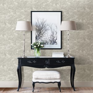 Brewster Wallcoverings Chesapeake Sage Hill Blythe Toile Wallpaper Roomset