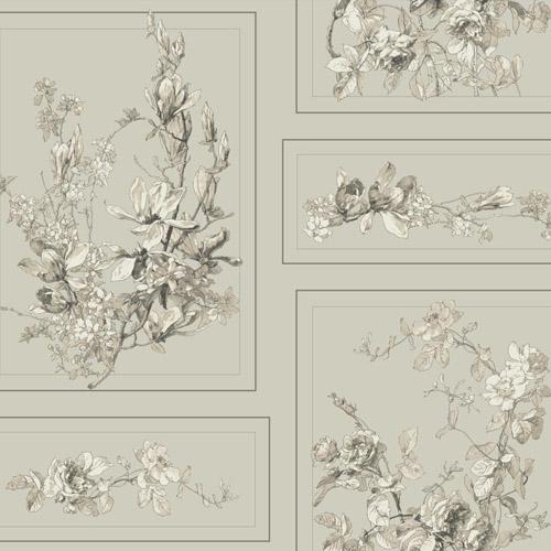 MH1544 York Wallcoverings Joanna Gaines Magnolia Home The Magnolia Wallpaper Gray