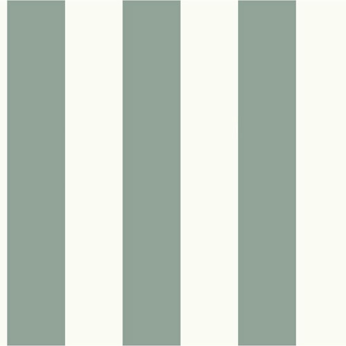 MH1587 York Wallcoverings Joanna Gaines Magnolia Home Awning Stripe Wallpaper Teal