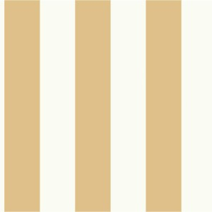 MH1592 York Wallcoverings Joanna Gaines Magnolia Home Awning Stripe Wallpaper Gold