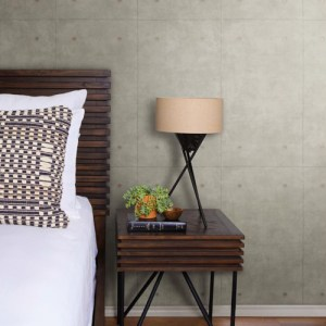 York Wallcoverings Joanna Gaines Magnolia Home Concrete Wallpaper Roomset