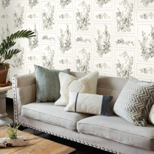 York Wallcoverings Joanna Gaines Magnolia Home The Magnolia Wallpaper Roomset
