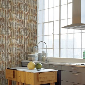Brewster Wallcoverings A Street Prints Restored Patina Panels Wallpaper Roomset