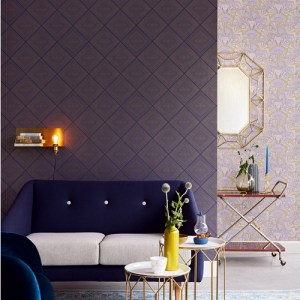 Brewster Wallcoverings Eijffinger Geonature Aries Geometric Wallpaper Roomset