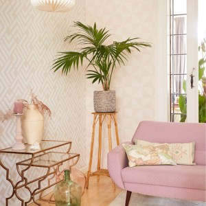 Brewster Wallcoverings Eijffinger Geonature Zig Geometric Wallpaper Roomset