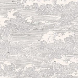 366061 Brewster Wallcoverings Eijffinger Geonature Palia Cloud Wallpaper Cream