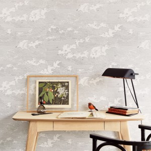 Brewster Wallcoverings Eijffinger Geonature Palia Cloud Wallpaper Roomset