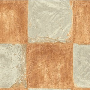MC71306 Seabrook Wallcoverings Majorca Corsica Tiles Wallpaper Orange