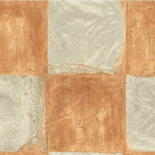 MC71306 Seabrook Wallcoverings Majorca Corsica Tiles Wallpaper Orange