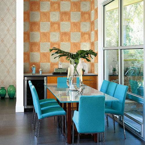Seabrook Wallcoverings Majorca Corsica Tiles Wallpaper Roomset