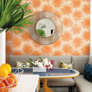 Seabrook Wallcoverings Tortuga Aruba Wallpaper Roomset