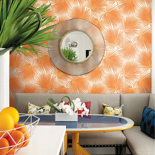 Seabrook Wallcoverings Tortuga Aruba Wallpaper Roomset