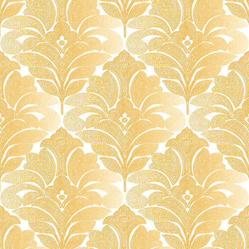 2744-24144 Brewster Wallcoverings Solstice Balangan Damask Wallpaper Honey