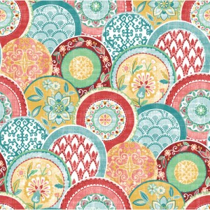 2744-24147 Brewster Wallcoverings Solstice Laguna Plate Wallpaper Coral