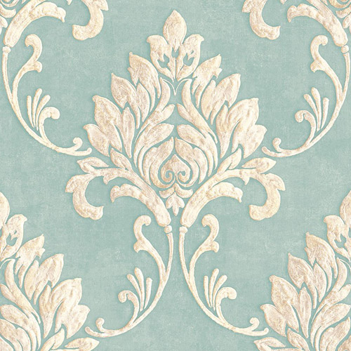 MT81612 Seabrook Wallcoverings Montage Telluride Wallpaper French Blue