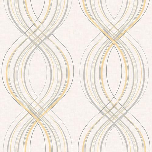 RL60205 Seabrook Wallcoverings Retro Living Jeannie Wallpaper Silver