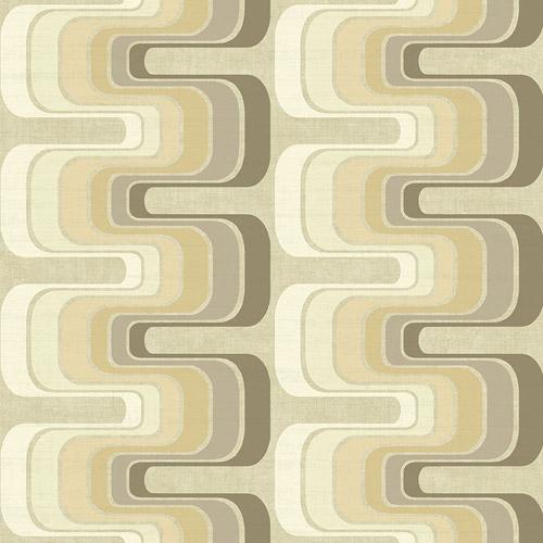 RL60305 Seabrook Wallcoverings Retro Living Fonzie Wallpaper Taupe