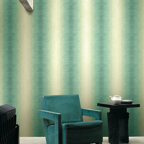 Seabrook Wallcoverings Montage Catamount Stria Wallpaper Roomset