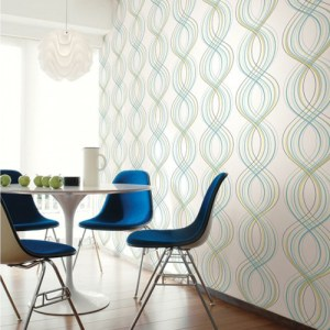 Seabrook Wallcoverings Retro Living Jeannie Wallpaper Roomset