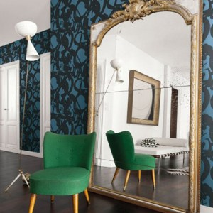 Seabrook Wallcoverings Retro Living Laverne Wallpaper Roomset