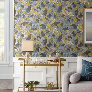 York Wallcovering Dwell Studio Mind Dragon Wallpaper Room Setting