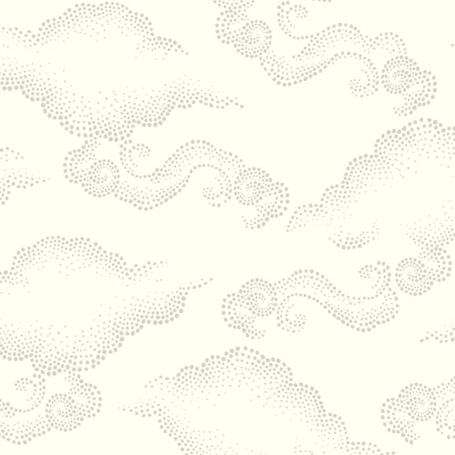 DR6308 York Wallcoverings Dwell Studio Cloudburst Wallpaper White