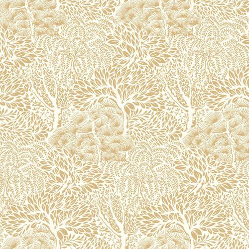 DR6337 York Wallcoverings Dwell Studio Miyuki Wallpaper Gold