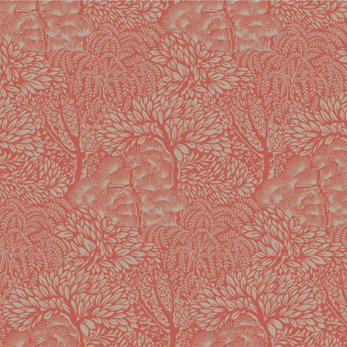 DR6338 York Wallcoverings Dwell Studio Miyuki Wallpaper Red
