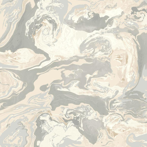 DR6350 York Wallcoverings Dwell Studio Medici Marble Wallpaper Gray