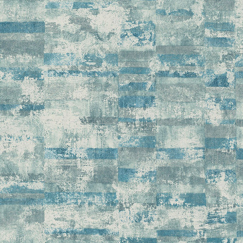 MW30402 Seabrook Designs Metalworks Gutenberg Wallpaper Blue