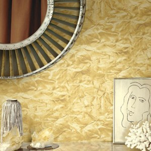 Seabrook Designs Metalworks Sax Wallpaper Room Setting