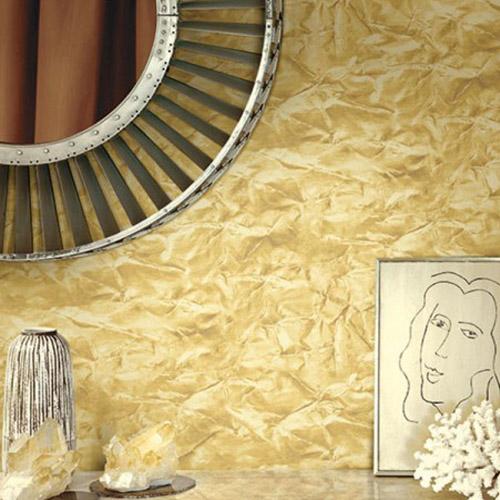Seabrook Designs Metalworks Sax Wallpaper Room Setting