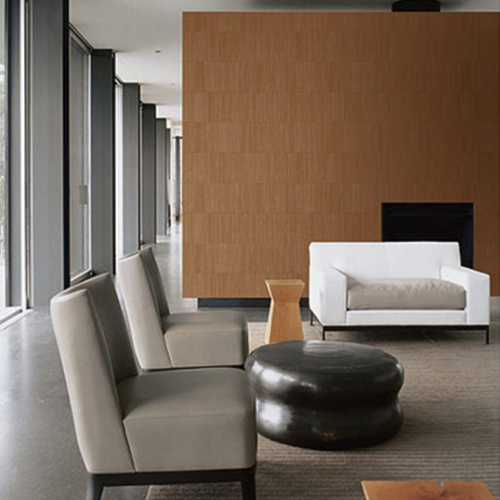 Seabrook Wallcoverings Jupiter Stria Textured Wallpaper Room Setting