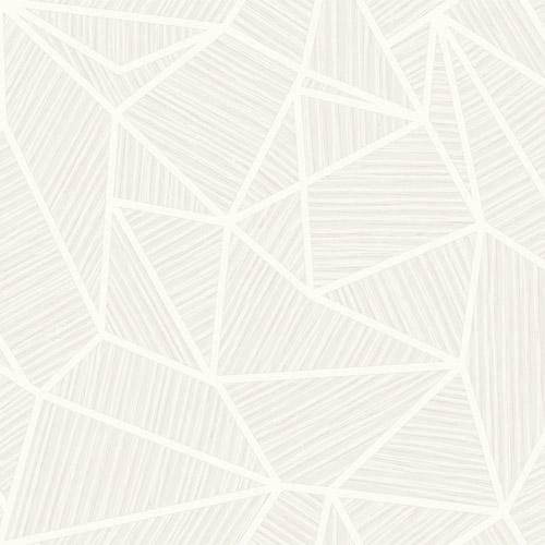TE11300 Seabrook Wallcoverings Jupiter Geometric Textured Wallpaper White