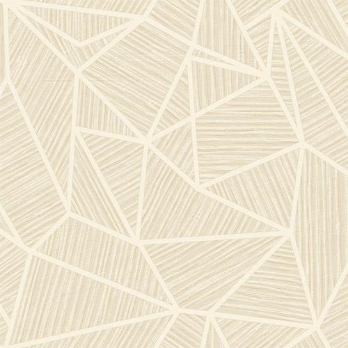 TE11306 Seabrook Wallcoverings Jupiter Geometric Textured Wallpaper Beige