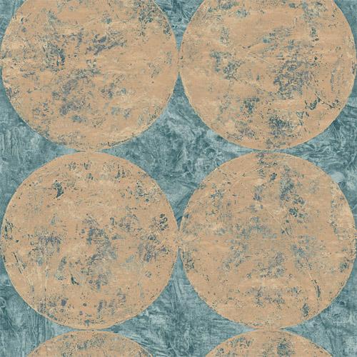 MW30002 Seabrook Designs Metalworks Fulton Wallpaper Copper