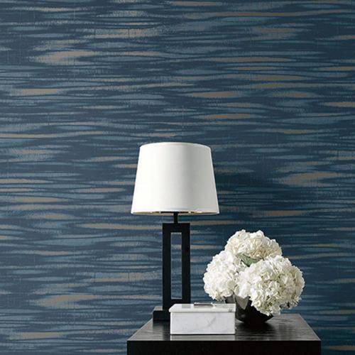Seabrook Wallcoverings Jupiter Haze Striped Wallpaper Room Setting