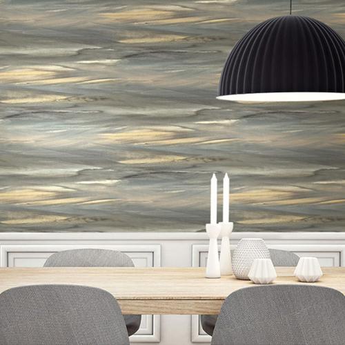 Seabrook Wallcoverings L'Atelier de Paris Horizon Wallpaper Room Setting