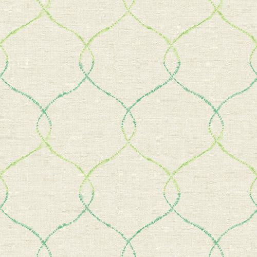 AH41601 Seabrook Wallcoverings L'Atelier de Paris Ogee Trellis Wallpaper Green