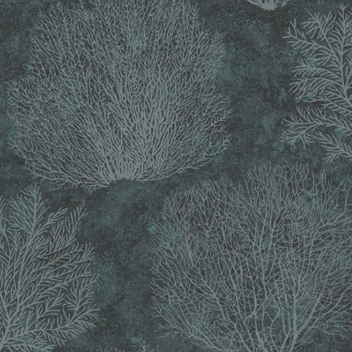 CR75702 Seabrook Wallcoverings Carl Robinson Sea Glass Oliver Wallpaper Charcoal