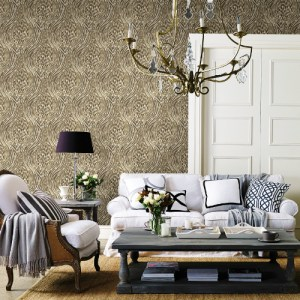 Brewster Wallcoverings A Street Prints Moonlight Splendid Jungle Wallpaper Room Setting