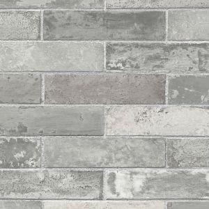 LL29533 Patton Wallcoverings Norwall Illusions 2 Rustic Brick Wallpaper Gray