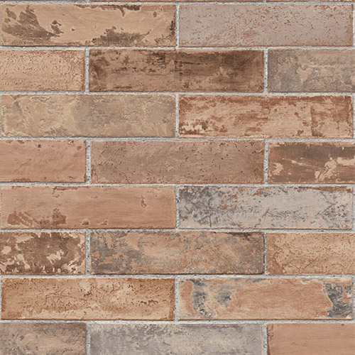 LL29534 Patton Wallcoverings Norwall Illusions 2 Rustic Brick Wallpaper Terracotta