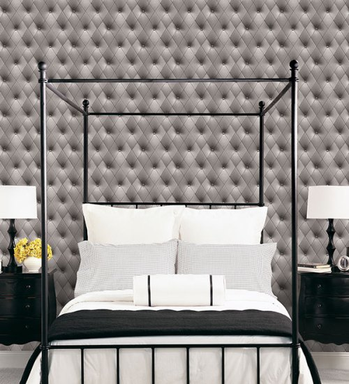 Patton Wallcoverings Norwall Illusions 2 Upholstery Wallpaper Room Setting