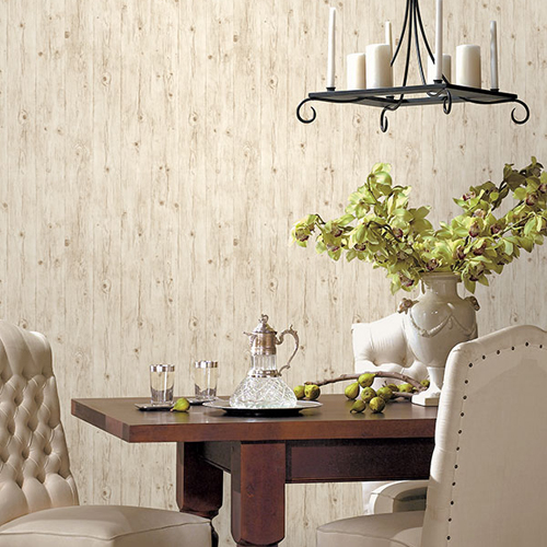 LL36206 Patton Wallcoverings Norwall Illusions 2 Rustic Wood Wallpaper Room Setting