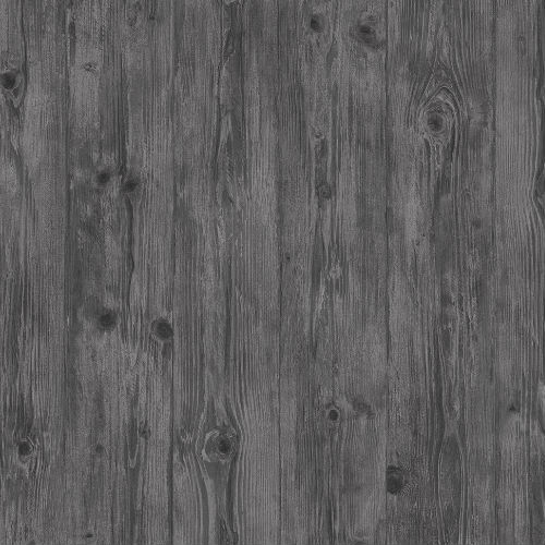 LL36207 Patton Wallcoverings Norwall Illusions 2 Rustic Wood Wallpaper Charcoal