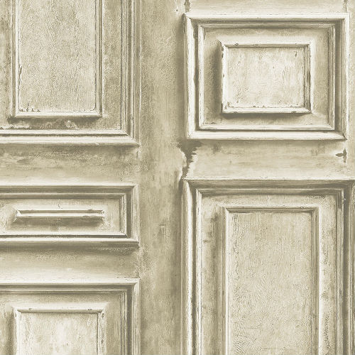 LL36210 Patton Wallcoverings Norwall Illusions 2 Rustic Wood Panel Wallpaper Beige