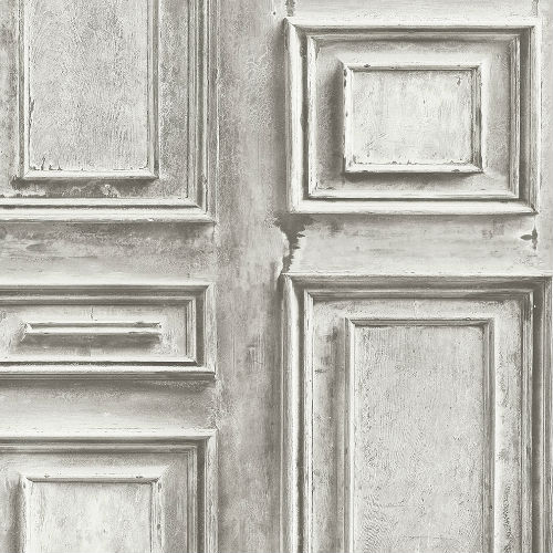 LL36211 Patton Wallcoverings Norwall Illusions 2 Rustic Wood Panel Wallpaper Gray