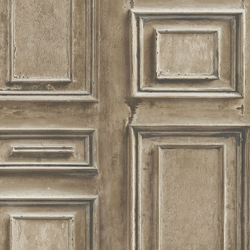 LL36212 Patton Wallcoverings Norwall Illusions 2 Rustic Wood Panel Wallpaper Brown
