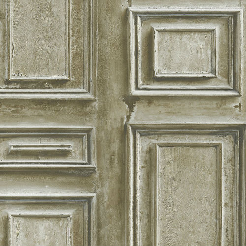 LL36213 Patton Wallcoverings Norwall Illusions 2 Rustic Wood Panel Wallpaper Taupe
